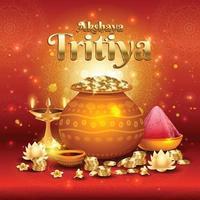akshaya tritiya festival concept vector
