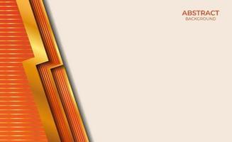 abstracte stijl achtergrond goud en oranje vector