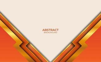 ontwerp gouden en oranje achtergrondstijl vector