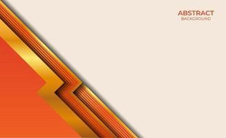 abstracte achtergrond goud en oranje stijl vector