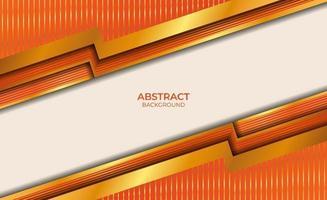 abstract ontwerp oranje en gouden achtergrond vector