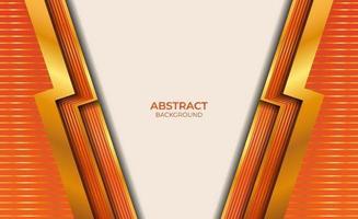 abstract ontwerpstijl goud en oranje vector