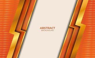 abstracte achtergrondstijl goud en oranje vector