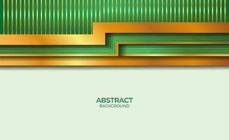 abstract ontwerp gouden en groene stijl vector