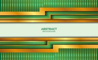 abstract ontwerp goud en groen vector
