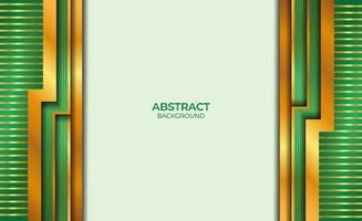 ontwerp abstracte gouden en groene stijl