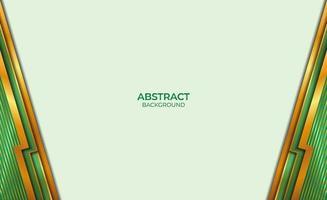 achtergrondontwerp gouden en groene abstracte stijl vector