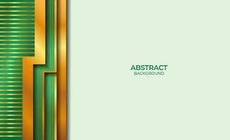 achtergrond abstracte gouden en groene stijl vector