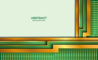ontwerp abstract goud en groen vector