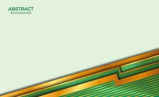 abstract stijlontwerp goud en groen vector