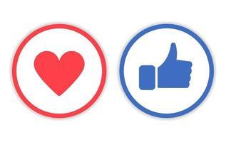pictogram zoals en liefde met cirkellijn