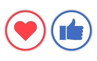 ontwerp zoals en liefde pictogram met cirkel lijn vector