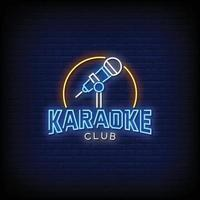 karaoke club ontwerp neonreclames stijl tekst vector