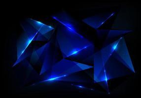 abstract futuristisch technologieconcept met blauw veelhoekig patroon en gloedverlichting op donkerblauwe achtergrond