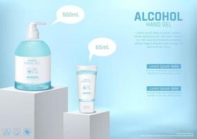 handdesinfecterend middel wassen met alcohol poster sjabloon