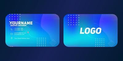 moderne geometrische visitekaartjesjabloon met lichtblauwe kleur vector