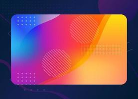 achtergrond van moderne geometrische visitekaartjesjabloon met kleurrijke kleuren vector