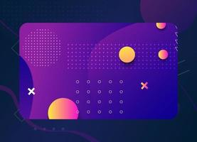 moderne geometrische visitekaartjesjabloon met paarse kleur vector