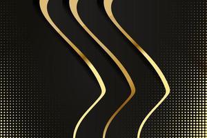abstract veelhoekig patroonluxe zwart met goud vector