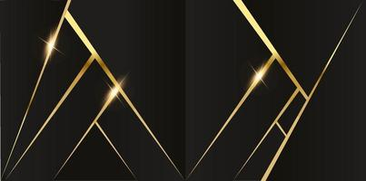 abstract veelhoekig patroonluxe donkerblauw met goud vector