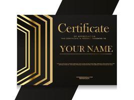 certificaat van waardering sjabloon. trendy geometrisch ontwerp. vector