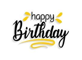 gelukkige verjaardag belettering vector