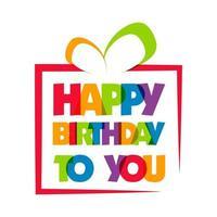 gelukkige verjaardag wenskaart vector