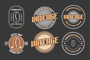 coffeeshop logo pictogram sjabloonontwerp