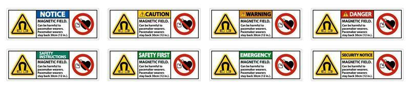 magnetisch veld kan schadelijk zijn voor dragers van pacemakers. dragers van pacemakers. blijf 30 cm achter