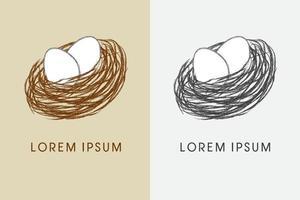 vogelnest en eieren