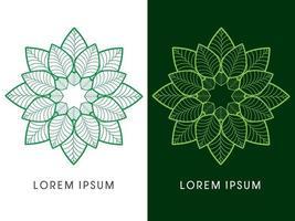 abstracte bloem luxe lotus overzicht