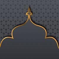 ramadan groeten sociale mediasjabloon. informatietekst ruimte in vorm luxe en elegant. islamitische heilige maand vieren. vector achtergrond