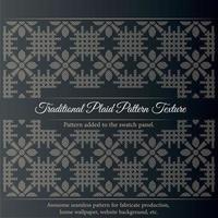 traditionele geruite patroon textuur. naadloze stof textuur print. kan op een weefholster worden gemonteerd. vector