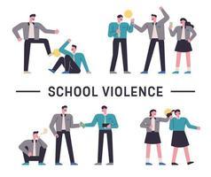 bewustmaking van geweld op school met studenten vector