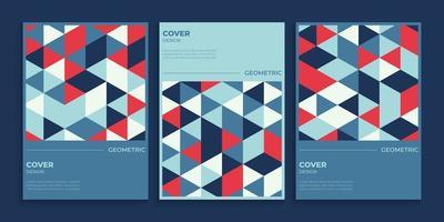 geometrische cover ontwerpset vector