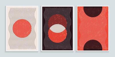 trendy hedendaagse muurkunst met elementen van primitieve vormen vector