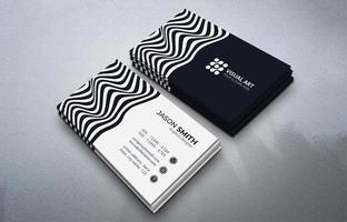modern visitekaartje met gestreepte stijl vector
