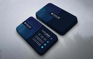 creatief blauw visitekaartje vector