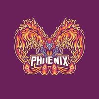 Phoenix mascotte karakter vector