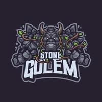 Ston Golem mascotte karakter vector