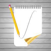 Potlood voor notities vector