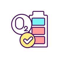 vermoeidheid en spierzwakte RGB-kleur pictogram