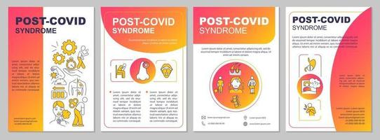 post covid syndroom brochure sjabloon