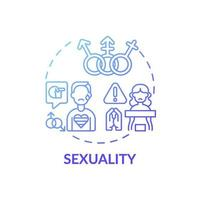 seksualiteit blauwe kleurovergang concept pictogram vector