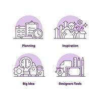 zakelijke oplossingen creatieve ui concept pictogramserie vector