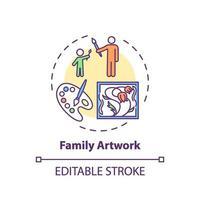 familie kunstwerk concept pictogram vector