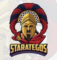 oude Spartaanse krijger vector