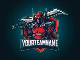 schurkenkarakter van het online gamingteam vector
