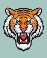 tijger hoofd illustratie vector