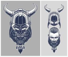 Viking krijger met optionele helm vector
